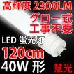 LED蛍光灯 40w形 120cm  高輝度2300LM グロー式器具工事不要 色選択 TUBE-120X