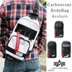 バッグ ボディバッグ メンズ 大容量 軽量 撥水 カーボンコート ポリエステル 斜めがけ 縦型ボディバッグ ALPHA INDUSTRIES アルファインダストリーズ #40050