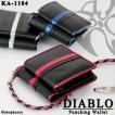 財布 メンズ 二つ折り 二つ折り財布 革 レザー パンチング ボックス型 3色 DIABLO 1104