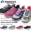 ウォーキングシューズ ムーンスター ワールドマーチ MoonStar WORLD MARCH レディース 3E スニーカー 靴 2016秋冬新作 得割23 送料無料