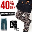 P10倍中 スノーボードウェア パンツ AA HARDWEAR ダブルエー ハードウェア SMOKER PANTS メンズ パンツ SLIM FIT ボトムス 30%off