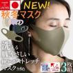 日本製 秋冬用マスク 二重マスクにも使える おしゃれマスク 男女兼用 大人用 洗える超立マスク 3枚組 ワイヤー付きでペコペコしない  変異ウイルス対策