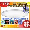 「送料無料」NEC HLDZE1462 LIFELED'S(ライフレッズ)LEDシーリングライト 〜14畳 昼光色 6099lm・48W デュアルクローム 調光 リモコン付
