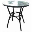 ガーデンテーブル カフェテーブル テーブル 人工ラタン ラタン ラウンドーテーブル モダン ガーデンファニチャー ベランダ ガーデニングテーブル