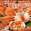 せいこがに3杯セット 福井県産せいこ蟹(セイコガニ・セコガニ)約100〜120g(小)×3杯 御歳暮 ギフト  [冷蔵]