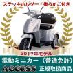 電動ミニカー 電動3輪車  シルド(後カゴ・ステッキホルダー付き)【2017年モデル】