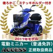 電動ミニカー  電動4輪 シルドLX4W(ブルー)(後ろカゴ・ステッキホルダー付き) アクセス製
