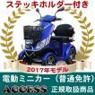 電動ミニカー  電動4輪 シルドLX4W(ブルー)(ステッキホルダー付き) アクセス製