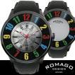 正規 ROMAGO(ロマゴ) ミラー文字盤・ビッグフェイス腕時計 【BOX・保証書付き】