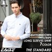 EAGLE THE STANDARD イーグル ストライプ シャツ メンズ 長袖 ボタンダウンシャツ カジュアルシャツ 長袖シャツ ストライプ柄 ワイシャツ Yシャツ