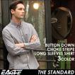 シャツ 長袖 メンズ ボタンダウン ストライプ 大きいサイズ 日本規格 89026|ブランド EAGLE THE STANDARD イーグル|長袖シャツ ワイシャツ Yシャツ カジュアル