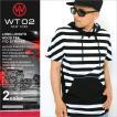 WT02 パーカー プルオーバー 半袖 薄手 ロング丈 メンズ 16191-1457|大きいサイズ USAモデル ブランド ダブルティー02|ストリート