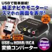USB to HDMI RCA コンバーター iPhone スマートフォン Android HDMI RCA 純正ナビ アンドロイド ミラーリング ゆうパケット3