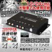地デジチューナー フルセグチューナー 4x4 4×4 車載 HDMI 地デジ フルセグ ワンセグ フィルムアンテナ 自動切替