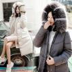 中綿ダウンジャケット 中綿ダウンコート レディース ロング丈中綿コート 冬用 アウター 暖かい 防風防寒 ファー付フード ジャケット オシャレ 厚手 軽量