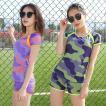 水着 体型カバー タンキニ ビキニ 2点セット水着 レディース めいさい 韓国風 セクシー ファッション  可愛い スイムウェア セパレート 紫外線カット 女性用