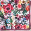 ナタリー・レテ ハンカチ キャット&フラワー 猫たちとお花のハンカチ