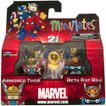 マーベル Marvel フィギュア Minimates Series 42 Armored Thor & Beta Ray Bill Minifigure 2-Pack