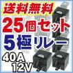 5極リレー 25個 BOSCH SR-3 1246互換 14AWG