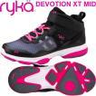 RYKAライカ DEVOTION XT MID (ブラック×ピンク) F4334M-2002(22.0〜26.5cm/レディース/メンズ)ディボーションXTミッド