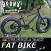 ファットバイク ブロンクス FATBIKE BRONX BMX/ BRONX 20 / MATTE BLACK x BLACK/1速  20インチ自転車