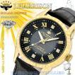J.HARRISON ジョン・ハリソン 腕時計  4石天然ダイヤモンド ソーラー電波 時計 J.H-085MGB ゴールド ブラック 黒 メンズ 送料無料