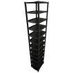 省スペースシューズラック 12段 (ブラック/ブラック&グレー)
