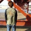 和柄 刺繍 Tシャツ メンズ 長袖 ロンT 是空 鳳凰 / bia599