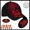 即納 バイカーファッション メンズ キャップ 帽子 刺繍 蜘蛛 髑髏 再入荷x2 /rfh097