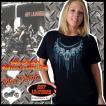即納 バイカー ファッション 半袖 Tシャツ バイクハンドル柄 大きいサイズ レディース /wot156