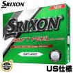 2015年モデル スリクソン SOFT FEEL ソフトフィール ホワイト ゴルフボール 1ダース(12球入り) US仕様【ゆうパケット不可】