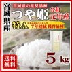 お米 5kg つや姫 宮城県産 白米 5kg 特A 30年産 送料無料 一部地域を除く