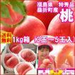桃 福島県 献上桃の郷 桑折町産 特秀品桃 1kg箱 3玉〜5玉入