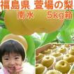 福島県 萱場産 南水 梨 5kg箱  (10〜18玉)