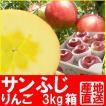 福島県産 サンふじ リンゴ 3kg箱 (7〜11玉入)