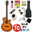 弾きやすさ抜群!初心者・女性にオススメ!アコギ入門セット|カッタウェイ・タイプのアコースティックギター・入門10点セット・ARIA(アリア) / TG-1 LVS