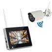 7インチモニター無線防犯カメラセット 200万画素 高画質 無線NVR + WIFIカメラ1台 屋内・屋外両用 スマホ/タブレット対応 遠隔監視 日本語 HDD録画 CSY711