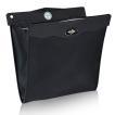 車載ダストBOX 折りたたみ式 車用ゴミ箱 収納ケース ブラック LEDセンサーライト付 マグネット開閉 取付簡単 PUレザー 後部座席収納 大容量 GLEDBOX01