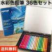 色鉛筆 36色 送料無料 水彩 初心者 筆 付き 水彩色鉛...