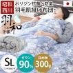 羽毛肌掛け布団 シングル ホワイトダウン90% 日本製 ダウンケット エクセルゴールドラベル 夏の羽毛布団