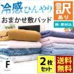 訳あり品 敷きパッド ファミリー 2枚セット 200×205cm 冷感タイプ 夏用 洗えるパットシーツ 色柄・品質おまかせ
