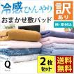 訳あり品 敷きパッド クイーン 2枚セット 冷感タイプ 夏用 洗えるパットシーツ 色柄・品質おまかせ