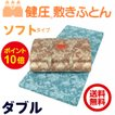 西川 敷布団 健圧敷布団 ダブル/ブルー ソフト100N(日本製)