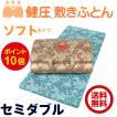西川 敷布団 健圧敷布団 セミダブル/ブルー ソフト100N(日本製)
