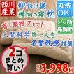 寝返り上手 枕 まくら 2個まとめ買い 東京西川 人間科学から生まれた枕 高さ調節 丸洗いOK 35×63cm 西川