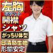 学生服 開襟シャツ スクールシャツ 形態安定 ノンアイロン 半袖 B体 大きなサイズ