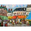渡部ひでき「パリの街角」油彩画