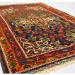 アフガニスタン絨毯 ウール100%  バルーチ マット 88×139 cm レッド ブラウン