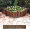 花壇柵 連杭 ミニ 幅120×高さ20cm 花壇 柵 土止め 囲い 仕切り
