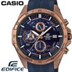 CASIO カシオ EDIFICE エディフィス 腕時計 EFR-556PC-2A 海外 限定モデル ローズゴールド ネイビー ラバーベルト